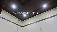 Натяжные потолки Черкассы - коричневый глянцевый натяжной потолок в ванной комнате, Мирор Стайл