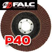 Falc F-40-531; Круг лепестковый торцевой, 125мм, P 40 выпуклый профиль