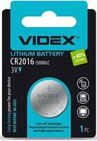 Батарейка литиевая CR2016 Videx BLISTER CARD