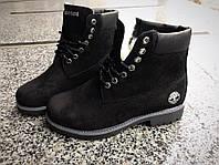 Зимние женские ботинки Timberl@nd замш