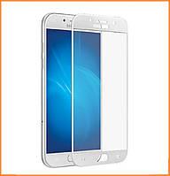 Защитное стекло 3D Full Cover для Samsung Galaxy J3 (2017) SM-J330 White (Screen Protector 0,3 мм)