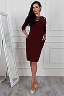 Женское платье с сеткой и пайетками цвета марсала  р 48, 50, 52