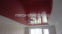 Натяжной потолок в гостиной, Черкассы. Натяжной потолок в коробе фото.