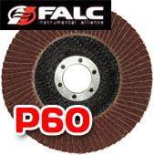 Falc F-40-532; Круг лепестковый торцевой, 125мм, P 60 выпуклый профиль