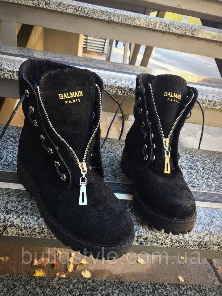 40 размер! Демисезонные черные женские ботинки в стиле Bai)ain