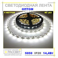 Светодиодная лента оптом 5050 60 диодов на метр без силикона