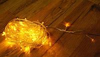 Гирлянда нить светодиодная 200 LED желтый цвет, фото 1