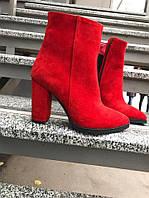 Стильные и удобные демисезонные ботинки красные