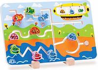 Развивающая детская игра Wonderworld Лабиринт дорога (WED-3084), лабиринт-головоломка, детские настольные игры