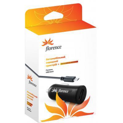 Зарядное устройство Florence USB, 1.2A + cable micro USB (CC12-MU)