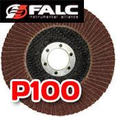 Falc F-40-534; Круг лепестковый торцевой, 125мм, P100 выпуклый профиль