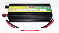Преобразователь напряжения + зарядка 7000 W inverter with charger 12 V/220, Инвертор, преобразователь, автомобильный инвертор