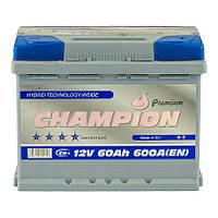 Аккумулятор 60 Ah, 12V Champion  Premium Euro (0)