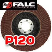 Falc F-40-535; Круг лепестковый торцевой, 125мм, P120 выпуклый профиль