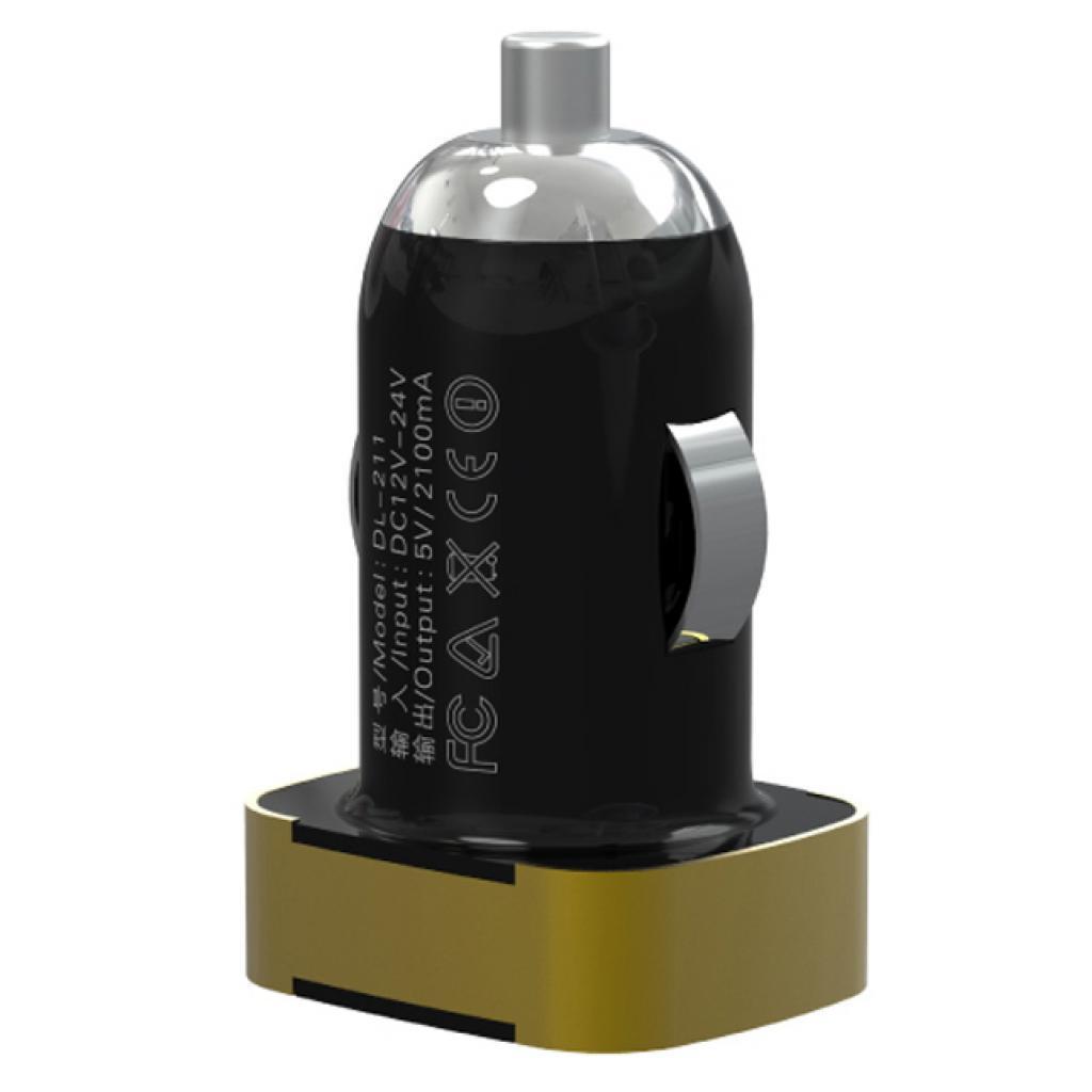Зарядное устройство LDNIO DL-C211 (1*USB, 2.1A, Black + USB Cable iPho
