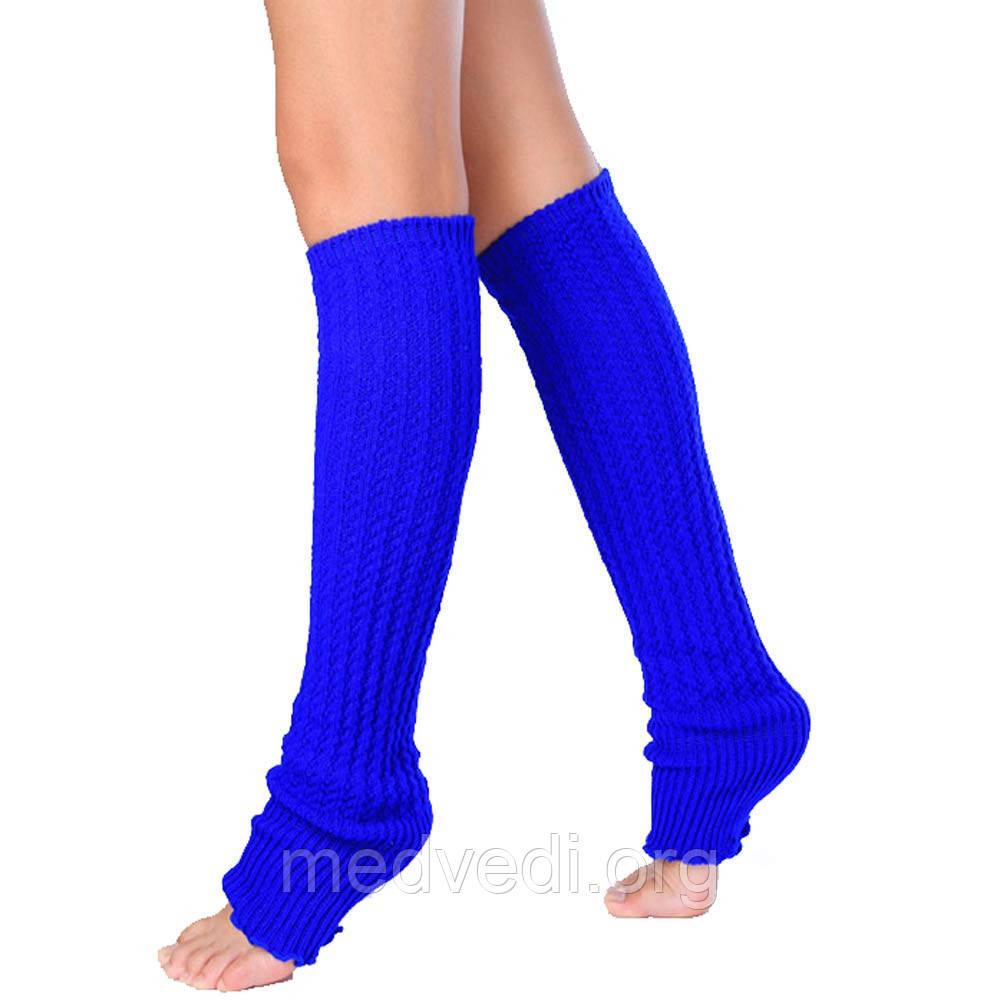 Гетры для танцев синие, женские, с резинкой