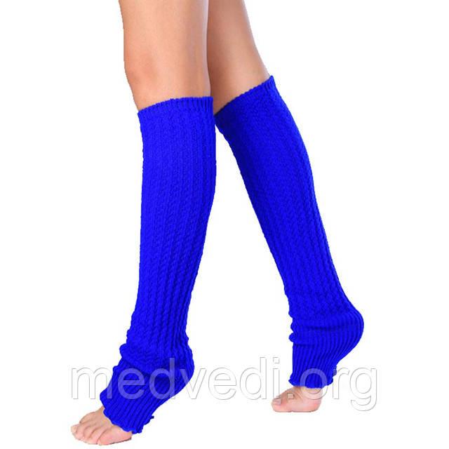 Синие женские гетры для танцев