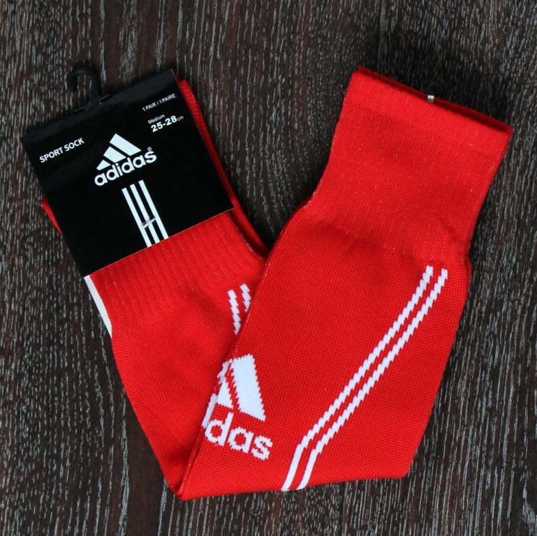 Футбольні гетри Adidas червоні 2017-2018
