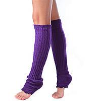Гетры для танцев фиолетовые, женские, с резинкой