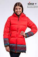 Женская зимняя куртка Avecs 7739683 Red с капюшоном наполнитель тинсулейт недорого | Avecs куртка размер