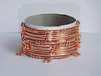 Индийские браслеты с подвесками медного цвета
