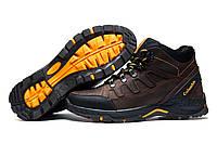 Ботинки зимние мужские Columbia TRACK, коричневые, кожаные, на меху, р. 40