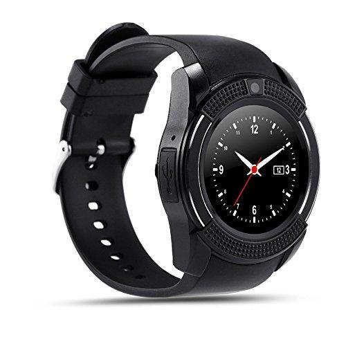 Умные часы телефон Lemfo Smart Watch V8 оригинал, bluetooth, камера, плеер, шагомер QualitiReplica