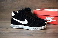 Зимние кроссовки Nike Blazer High -замша иск,внутри мех ,подошва:резина, размеры: 41-44 Вьетнам