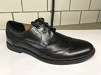 Кожаные коричневые мужские туфли украинского производителя. Оптом и в розницу, Размер 42