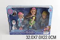 Кукла Frozen BX032-1 1359928 48шт3 Анна,ЭльзКрис, олен Свен, снеговик Олаф,  в кор.32722см