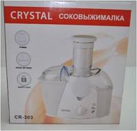 Электросоковыжималка CRYSTAL 500W CR-303, электрическая соковыжималка для для овощей и фруктов, Кухонный комбайн, кухонный процессор, измельчитель