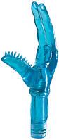 Вибромассажер TWO FINGER JUICY JUNKY 5.5 BLUE