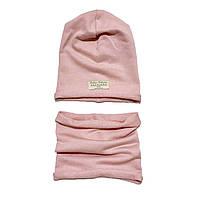 Набор Andriana Kids шапочка + хомут (розовый)