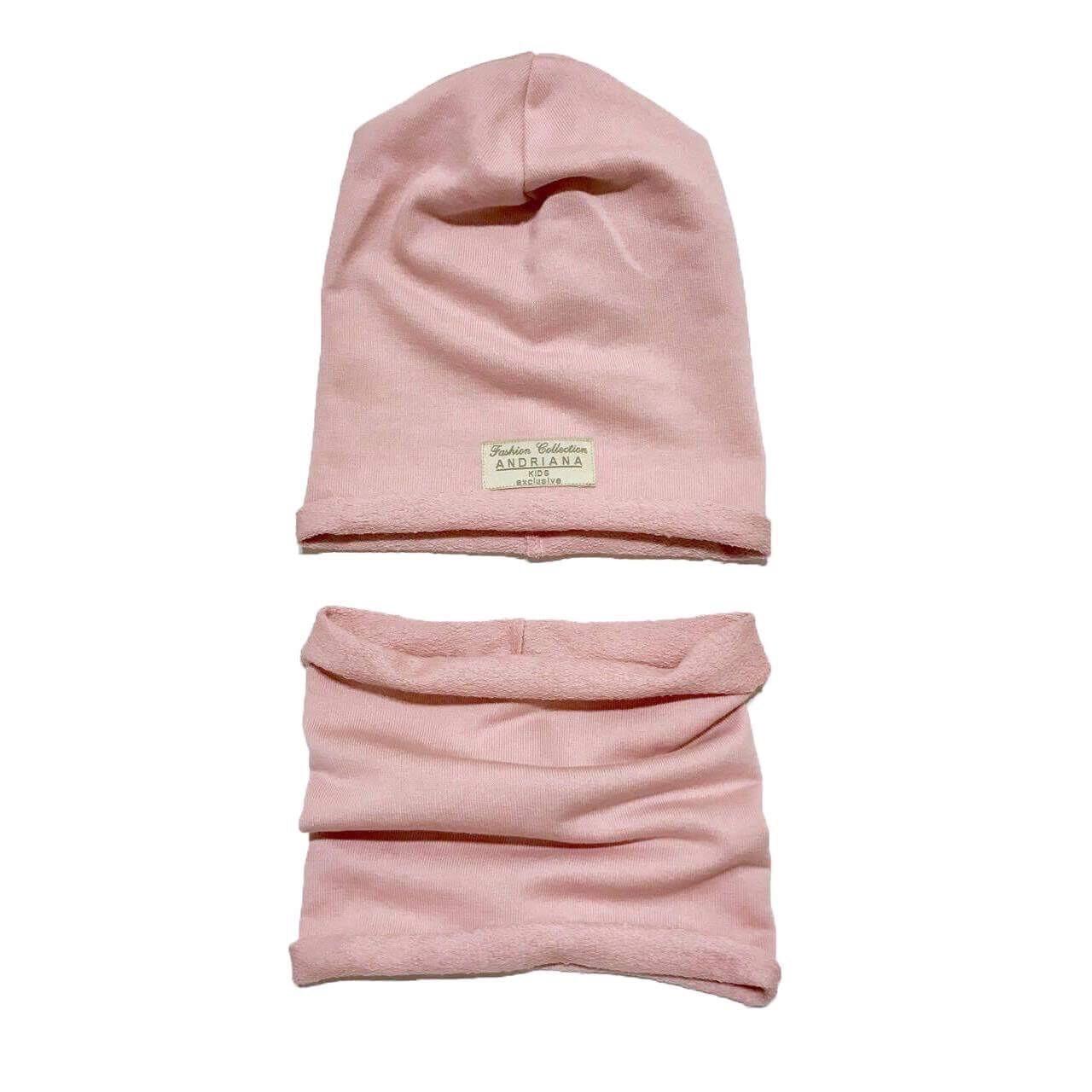 Набор шапочка + хомут 44-46,52-54 см. Andriana Kids (розовый) - Melman в Львове