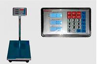 Весы торговые электронные ACS 100 KG, 30*40 с металлической головой, весы торговые, весы напольные, веса, ваги