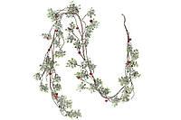 Ветка-гирлянда в снегу с красными ягодами BonaDi 758-321
