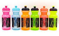 Бутылка для воды спортивная  500мл LEGEND (PE прозрачный, силикон, цвета в ассортименте)