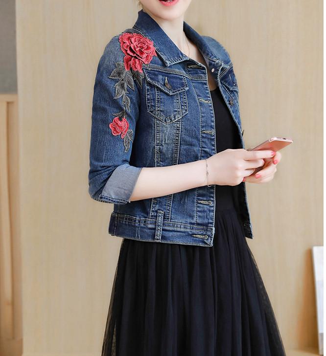 Женская джинсовая куртка СС-7647-95