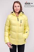 Женская зимняя куртка Avecs 7749500 Yellow теплая лыжная наполнитель тинсулейт недорого   Avecs куртка размер