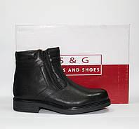 Мужские зимние ботинки S&G boots and shoes натуральная кожа  41