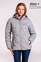Женская зимняя куртка Avecs 7739620 Gray в спортивном стиле дутая холлофайбер недорого | Avecs куртка размер