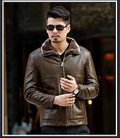 Дубленка мужская с натуральной кожи,куртка зимняя на овчине.