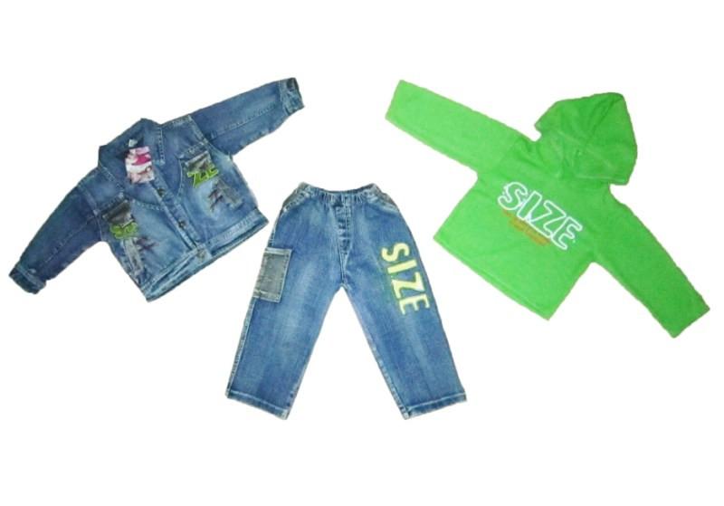 Костюм детский джинсовый тройка для мальчика. TZ06