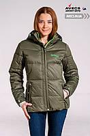 Женская зимняя куртка в спортивном стиле Avecs 7739620 Green холодная зима недорого | Avecs куртка размер