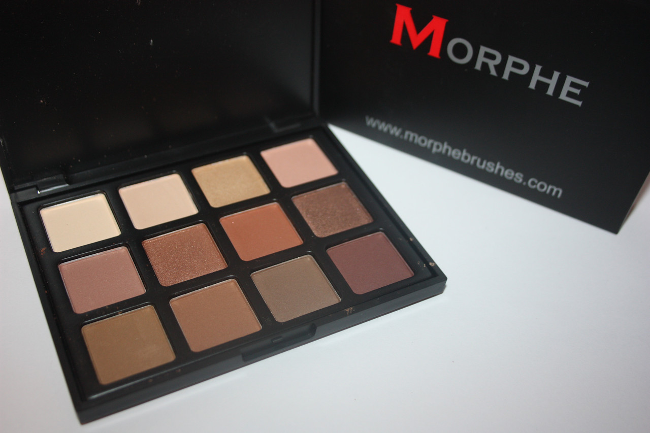 Тени для век morphe brushes 12-color natural beauty palette