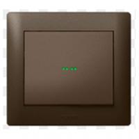 Galea Life клавиша для выключателя с подсветкой пиктограммы тёмная бронза