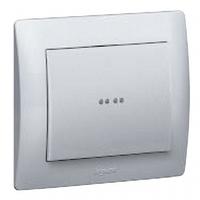 Galea Life клавиша для выключателя с подсветкой пиктограммы алюминий
