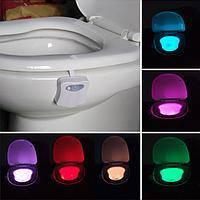 Лед Подсветка LED для унитаза Ночник  с Датчиком движения 8 цветов  Акция !!!