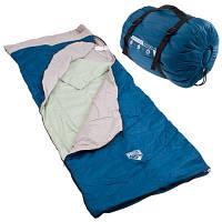 Спальный мешок спальник одеяло 2-слойный теплый туристический рыбацкий военный с компресионным мешком