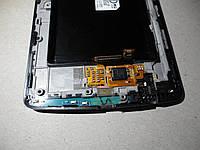 Дисплей в рамке с сенсором оригинал б.у. для  LG D855 ls990 G3